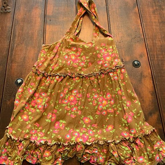 Matilda Jane racerback tank top w/ flower pattern